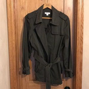 Cold water Creek Classic Short Trench Coat